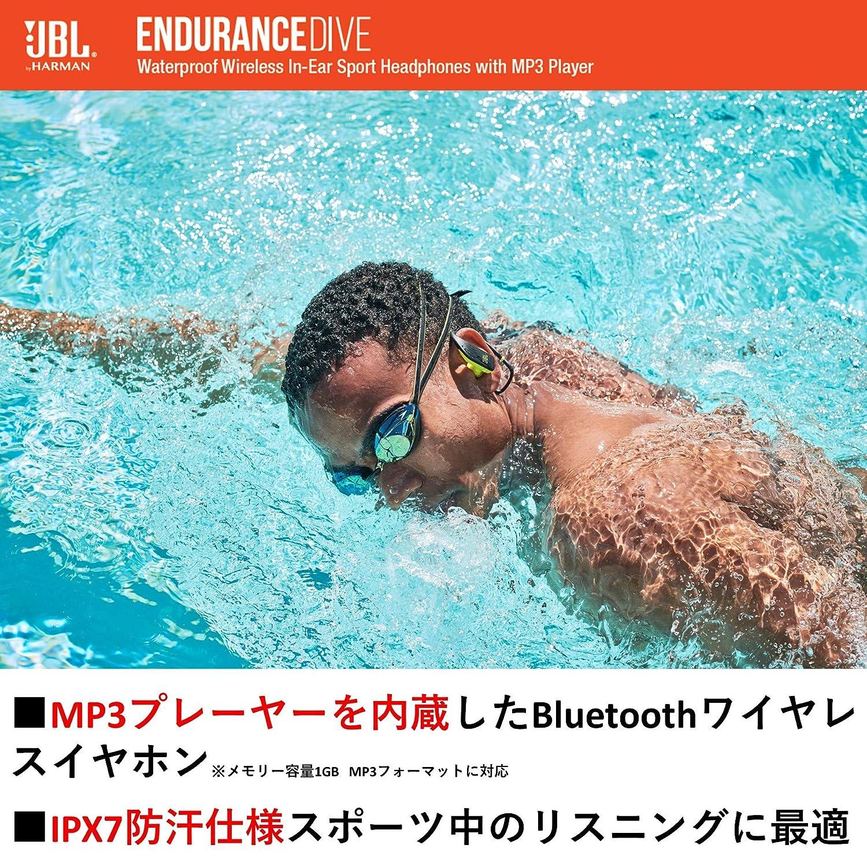 6051343f3a Amazon.co.jp: JBL ENDURANCE DIVE Bluetoothイヤホン IPX7防水/MP3プレーヤー1GB内蔵/ タッチコントロール機能/ハンズフリー通話対応 ブラック JBLENDURDIVEBLK ...