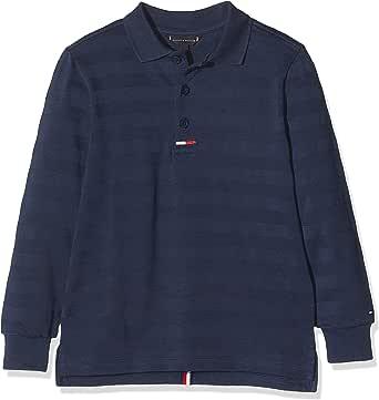 Tommy Hilfiger Essential Back Tape Polo L/S Camisa Manga Larga para Niños