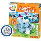 Thames & Kosmos Kids First: Robot Safari - Introduction to Motorized Machines Science Experiment Kit for Ages 5 to 7, Build 8