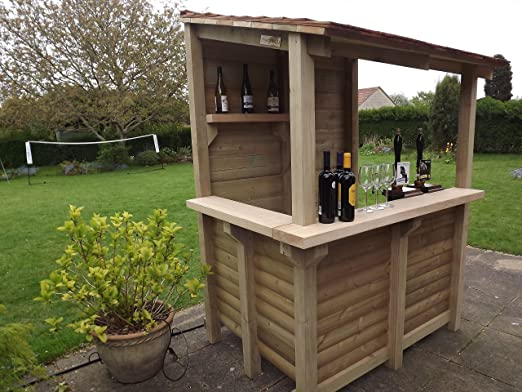Barra de jardín Cedar – Hecha a mano por Tanglewood Cedar (bar de ...