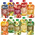 Happy Baby Organics Clearly Crafted Stage 2 Baby Food, Fruit Veggie Variety Pack, 4 Ounce Pouch (Pack of 10)