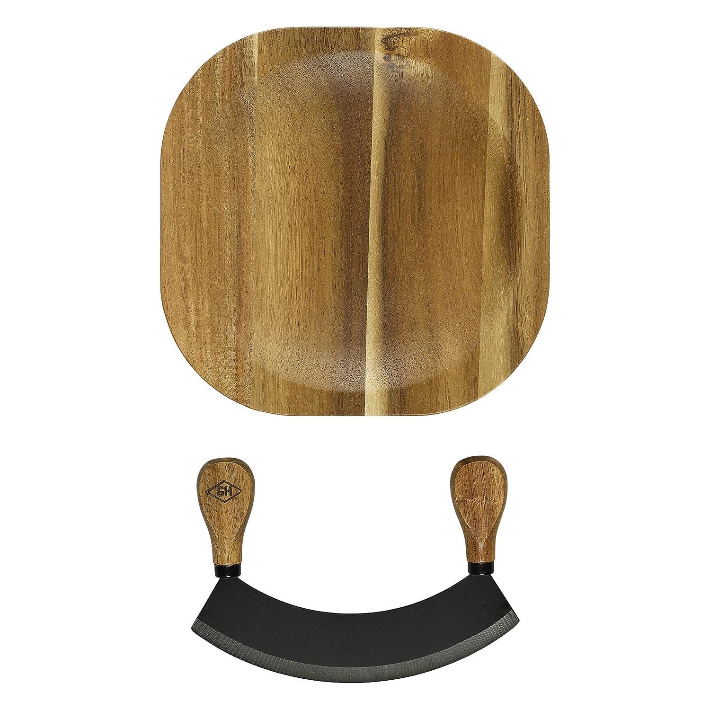 Brown Kesper Herbs Cutting Board 16x16x1,8cm of Bamboo 16 x 16 x 1.8 cm