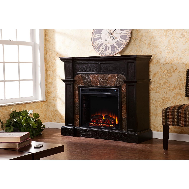 amazon com cartwright convertible electric fireplace ebony