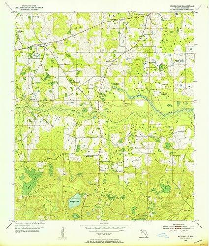 Amazon.com: Florida Maps | 1952 Kynesville, FL USGS Historical ...