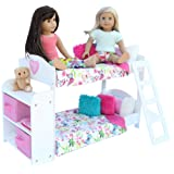20 Pc. Doll Bedroom Set for 18 Inch American Girl Doll. Includes: Bunk Bed, Bookshelf, x2 Bedding Sets, x2 Pajama Sets and more...