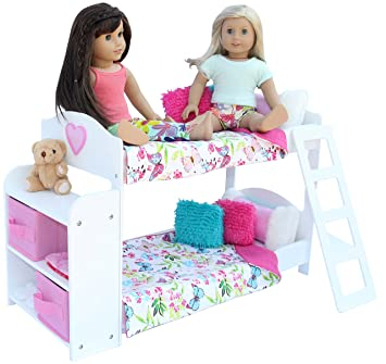 Bedroom Set For 18 Inch American Girl Doll Bunk Bed BookshelfBedding Sets