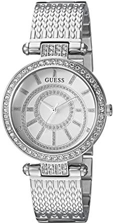 Amazon Com Guess Women S Stainless Steel Casual Textured Bracelet