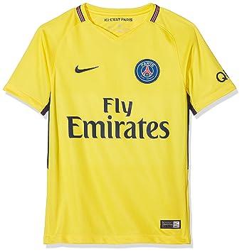 Nike PSG Y Nk BRT Stad JSY SS AW Camiseta 2ª Equipación Paris Saint Germain 17-18, Unisex niños: Amazon.es: Deportes y aire libre