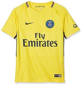 13ac753be Nike Breathe Kid s Paris Saint Germain 2018 Away Stadium Soccer Jersey ( Medium) Yellow