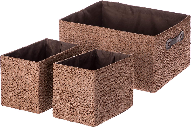 Home Zone Living VS19447E Nursery Basket, Brown