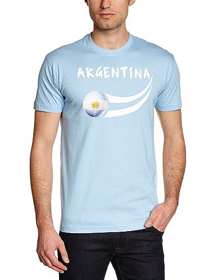 Supportershop Argentina Coup du Monde - Camiseta: Amazon.es: Deportes y aire libre