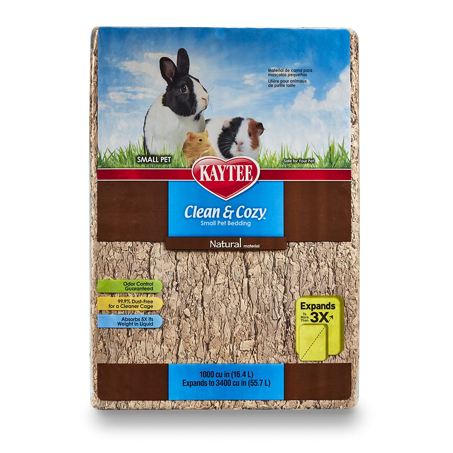 Kaytee Clean And Cosy Natural Bedding, 1000 Cubic Inch