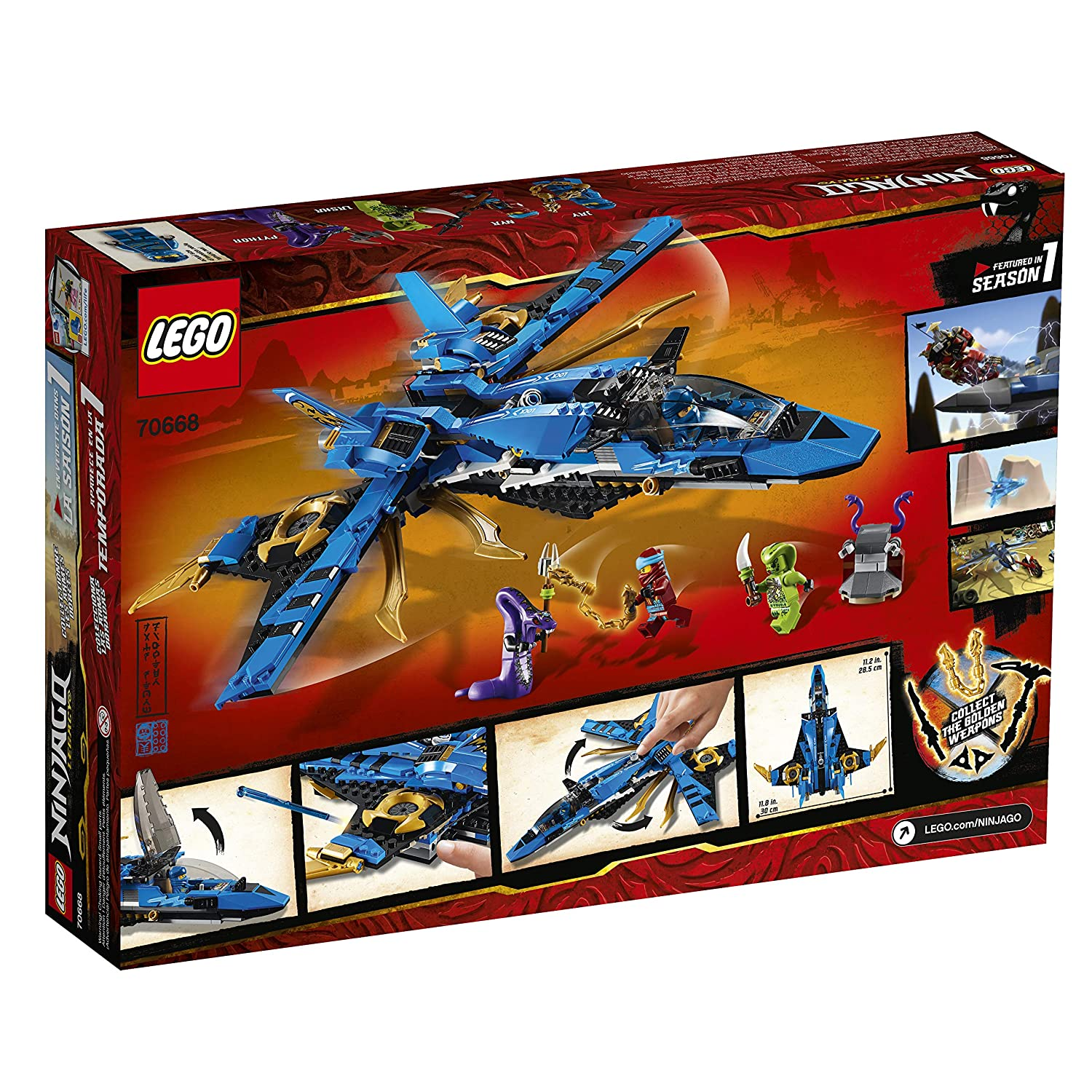 490 Pieces LEGO NINJAGO Legacy Jay/'s Storm Fighter 70668 Building Kit