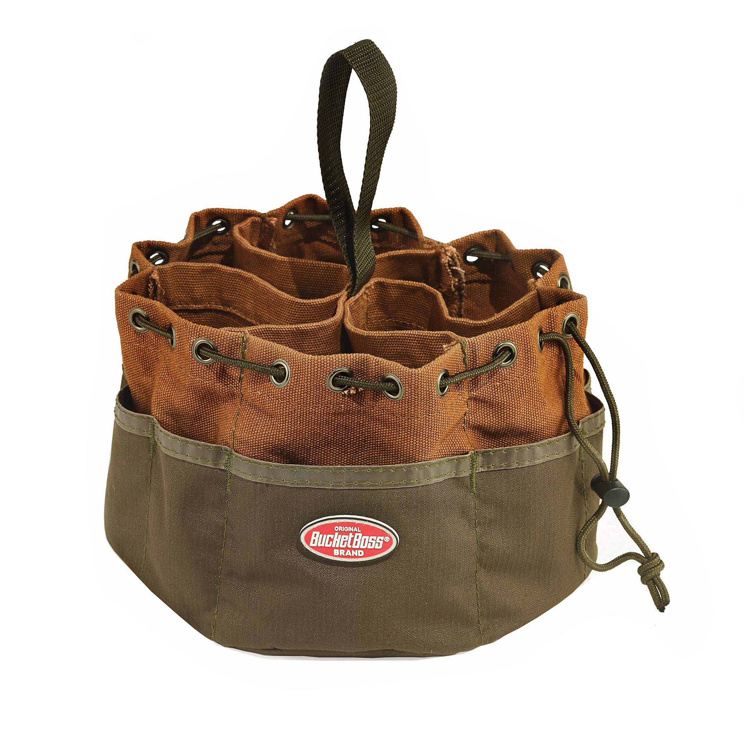 Bucket Boss Parachute Bag Small Parts Bag in Brown, 25001 by Bucket Boss