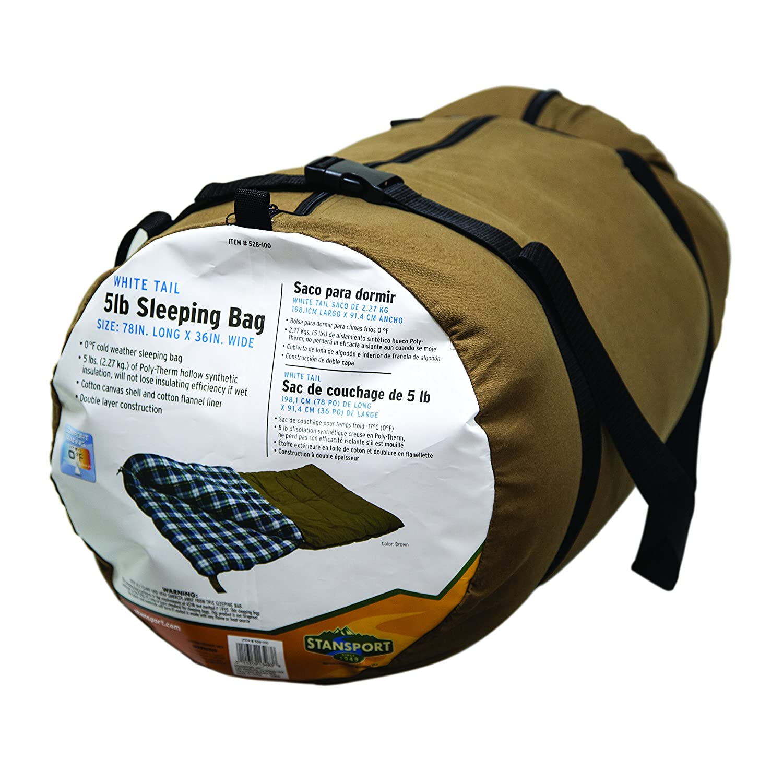 Amazon.com : Stansport White Tail 5 Lb. Rectangular Sleeping Bag, 78