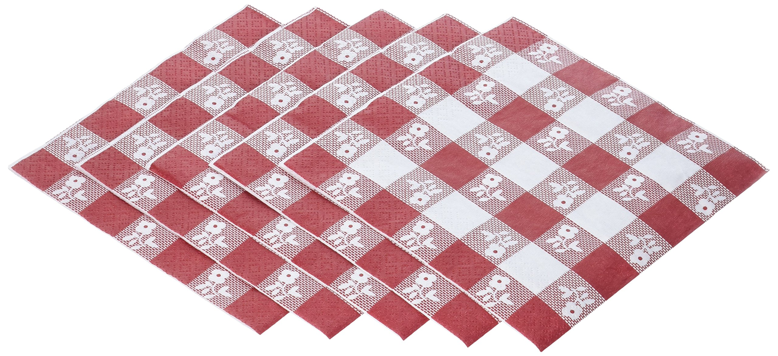 Creative Converting 600 Count Lunch Napkins, Red Gingham