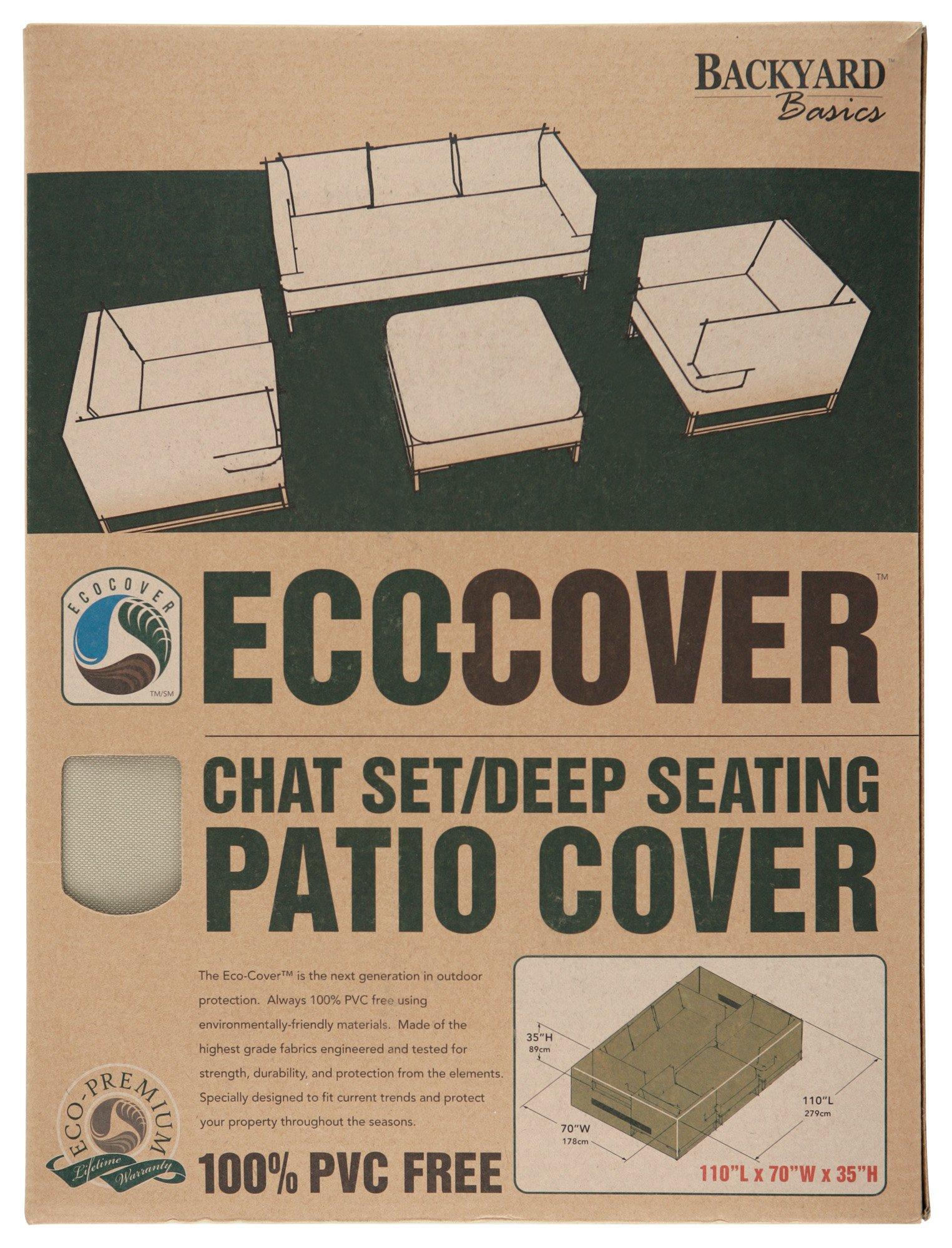 Mr. Bar-B-Q Backyard Basics Eco-Cover PVC Free Chat Set/Deep Seating Cover