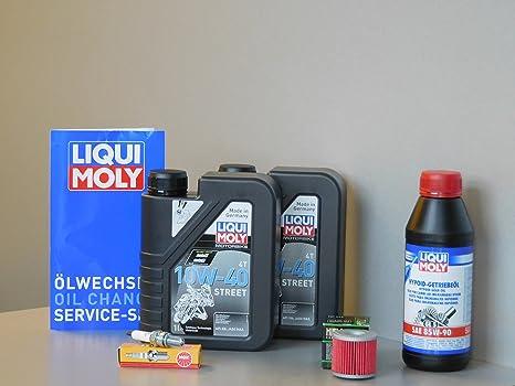 Kit de mantenimiento Kawasaki J 300 aceite de aceite Bujía Service Inspección ölwechsel