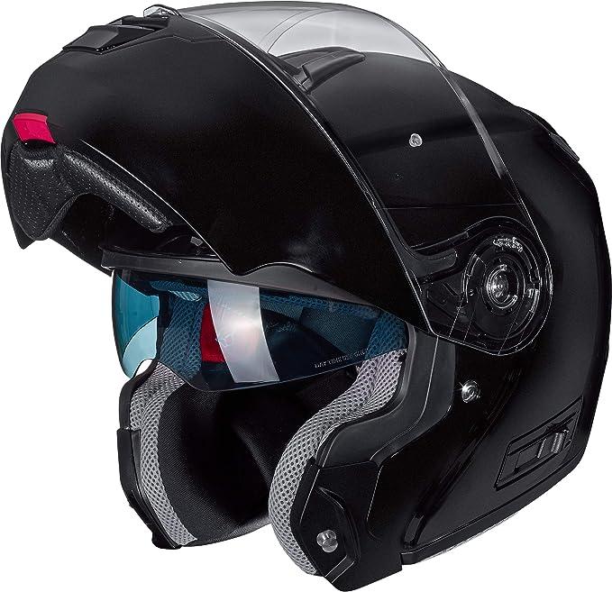 Nexo Klapphelm Motorradhelm Helm Motorrad Mopedhelm Comfort Für Damen Und Herren 1 550 G Kratzfestes Visier Belüftung Ratschenverschluss Diverse Farben Und Designs Xs Xl Bekleidung