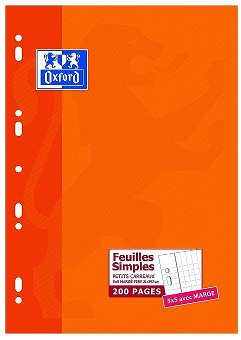 Oxford 100105677, Folios escolares (A4, Cuadriculados, Clásicos y Simples, 200 Páginas