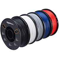 5-Pk AmazonBasics PETG 3D Printer Filament 1.75mm 1kg per Spool