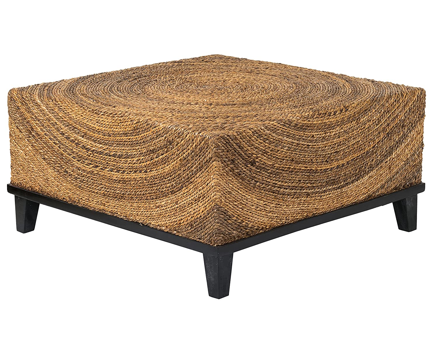 East At Main Chickasaw Brown Abaca Square Coffee Table