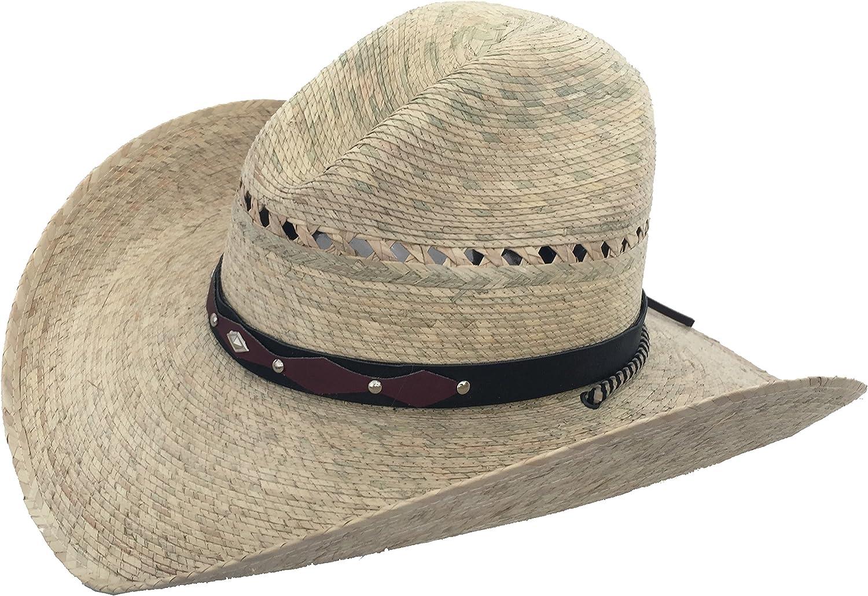 Mexican Palm Western Sombrero Cowboy Hat Safari Sun Lifeguard Gardener SPF Big Brim