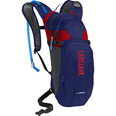 CamelBak 1118405000 Sac d'Hydratation Homme, Pitch Blue/Racing Red, 100 Oz