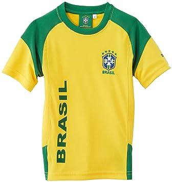 CBF Brasil - Camiseta de fútbol para niño amarillo amarillo Talla:FR : 6 years