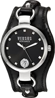 Versus by Versace Womens ROSLYN Quartz Stainless Steel Casual Watch, Color:Black