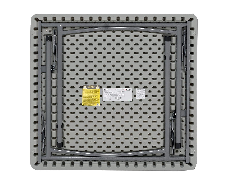 Maxchief XXL90 - Mesa plegable, 91.4 x 91.4 x 74.3 cm, color gris claro