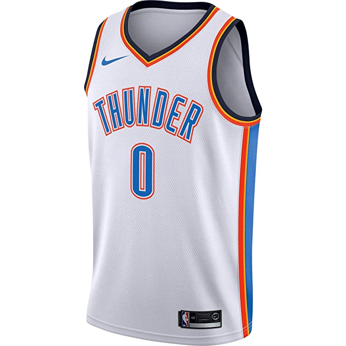 Nike NBA Oklahoma City Thunder Russell Westbrook 0 2017 2018 Association Edition Jersey Official, Camiseta de Niño: Amazon.es: Ropa y accesorios