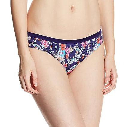 Amante No Panty Lines Printed Bikini Brief Women's Bikini Knickers at amazon