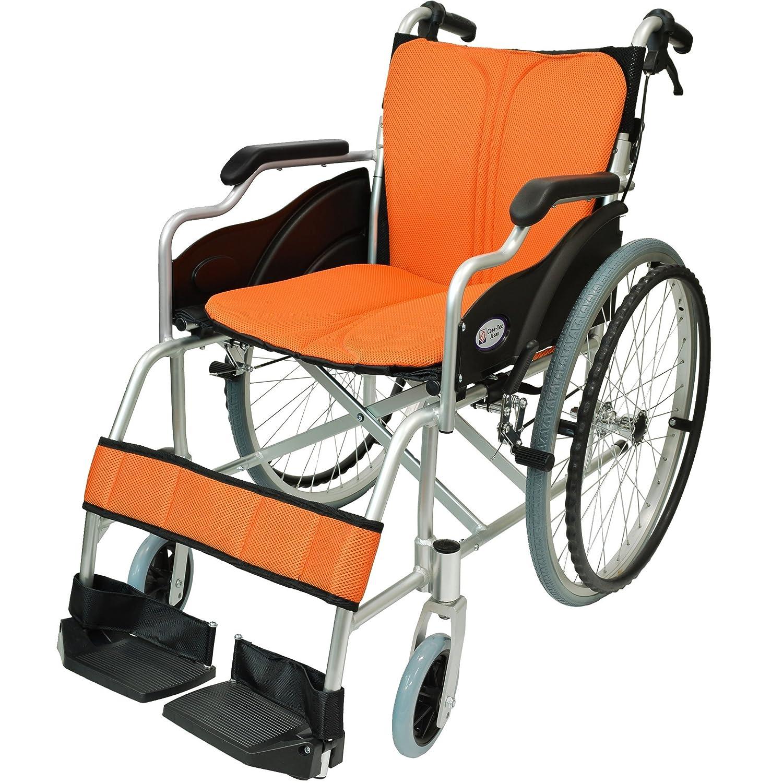 ケアテックジャパン 自走式 アルミ製 折りたたみ 車椅子 ハピネス オレンジ CA-10SU B00S0OANLE 03 オレンジ(橙色) 03 オレンジ(橙色)