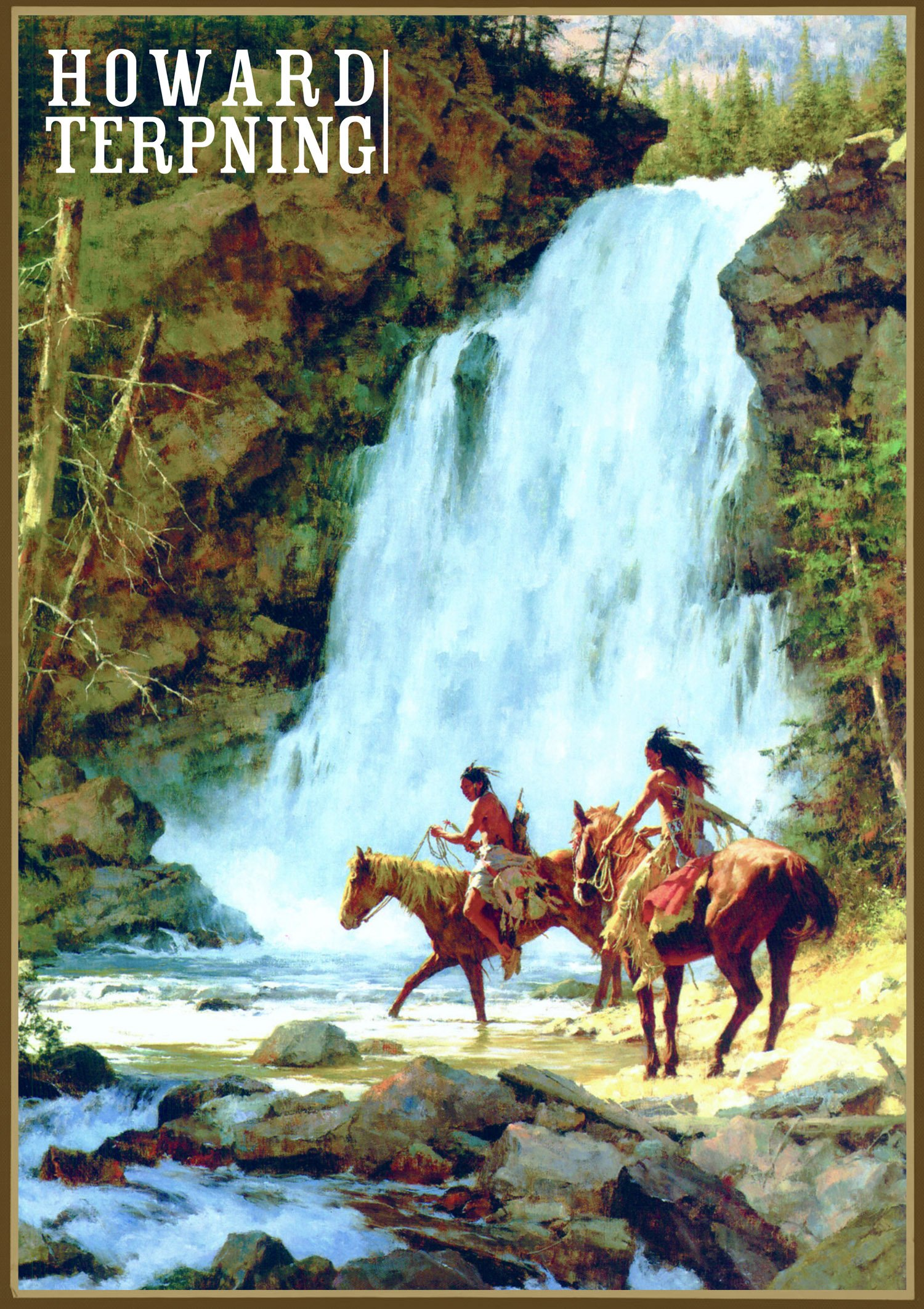 wall-calendar-2018-12-pages-8-x11-native-american-indian-horserider-by-howard-terpning-vintage-art-poster