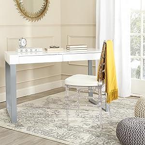Safavieh Home Collection Barton White and Grey Desk