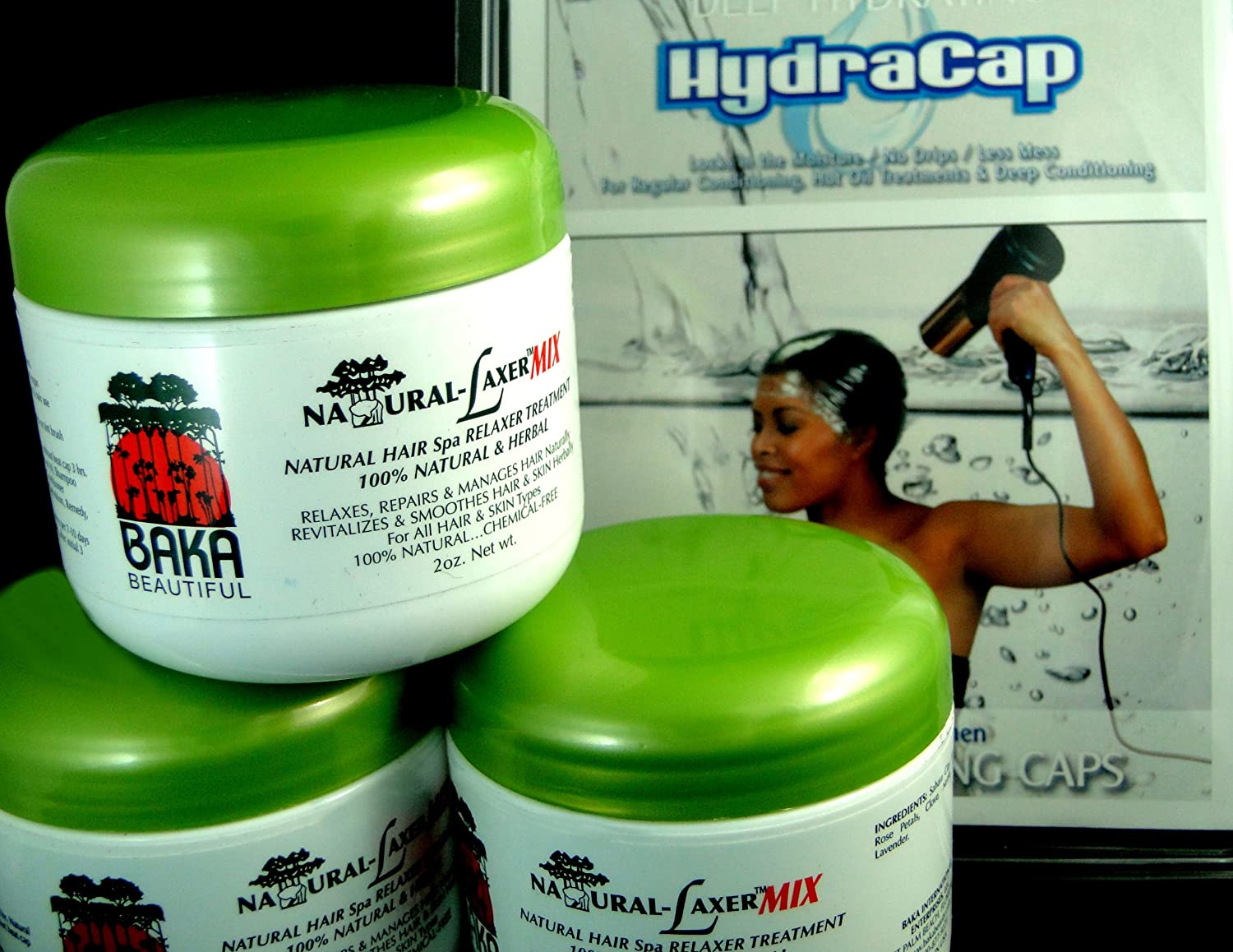 Hydra-Cap 3 pack Plus Natural-Laxer Trio Baka Beautiful