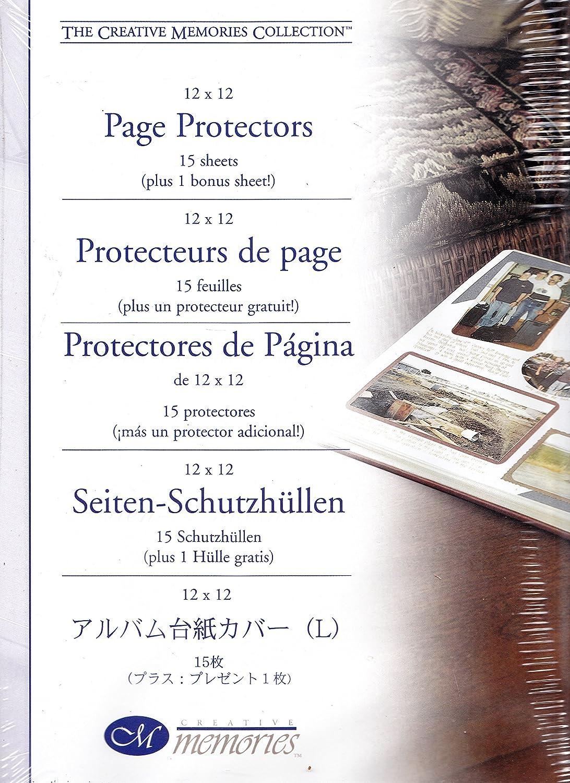 Creative Memories - 12x12 White Scrapbook Page Protectors 15 Sheets Plus 1 Bonus Sheet