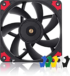 Noctua NF-A12x15 PWM chromax.Black.swap, Premium Quiet Slim Fan, 4-Pin (120x15mm, Black)