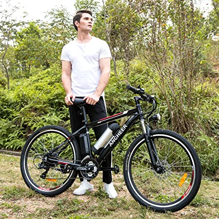 Amazon.com : ANCHEER Electric Mountain Bike with 36V, 8AH Removable Lithium-Ion Battery 250W Electric Bike for Adults with Battery Charger : Sports & ...