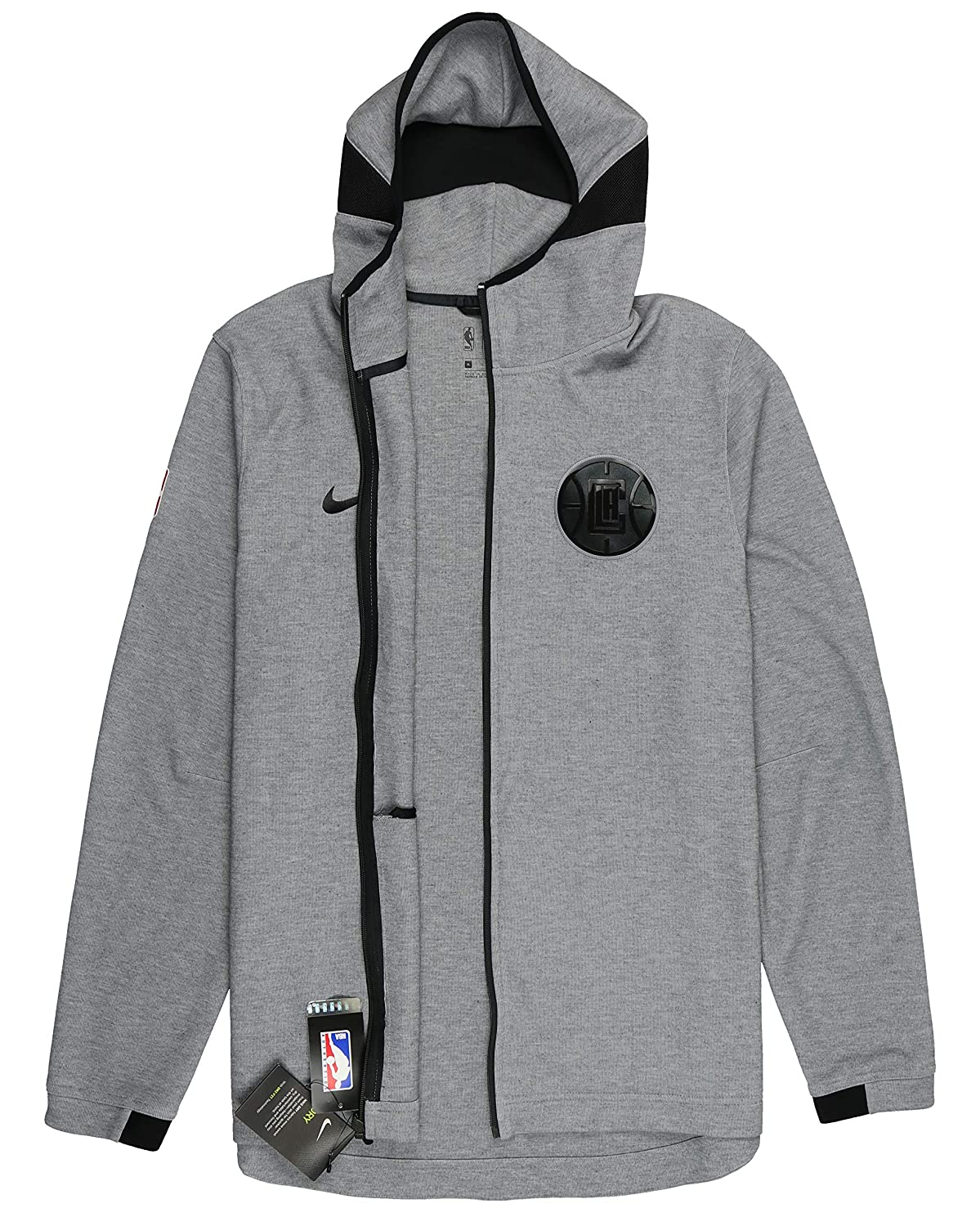 3bdeb6833db Amazon.com  Nike Men s Los Angeles Clippers Showtime Full Zip Hoodie  XX-Large Gray Black  Shoes