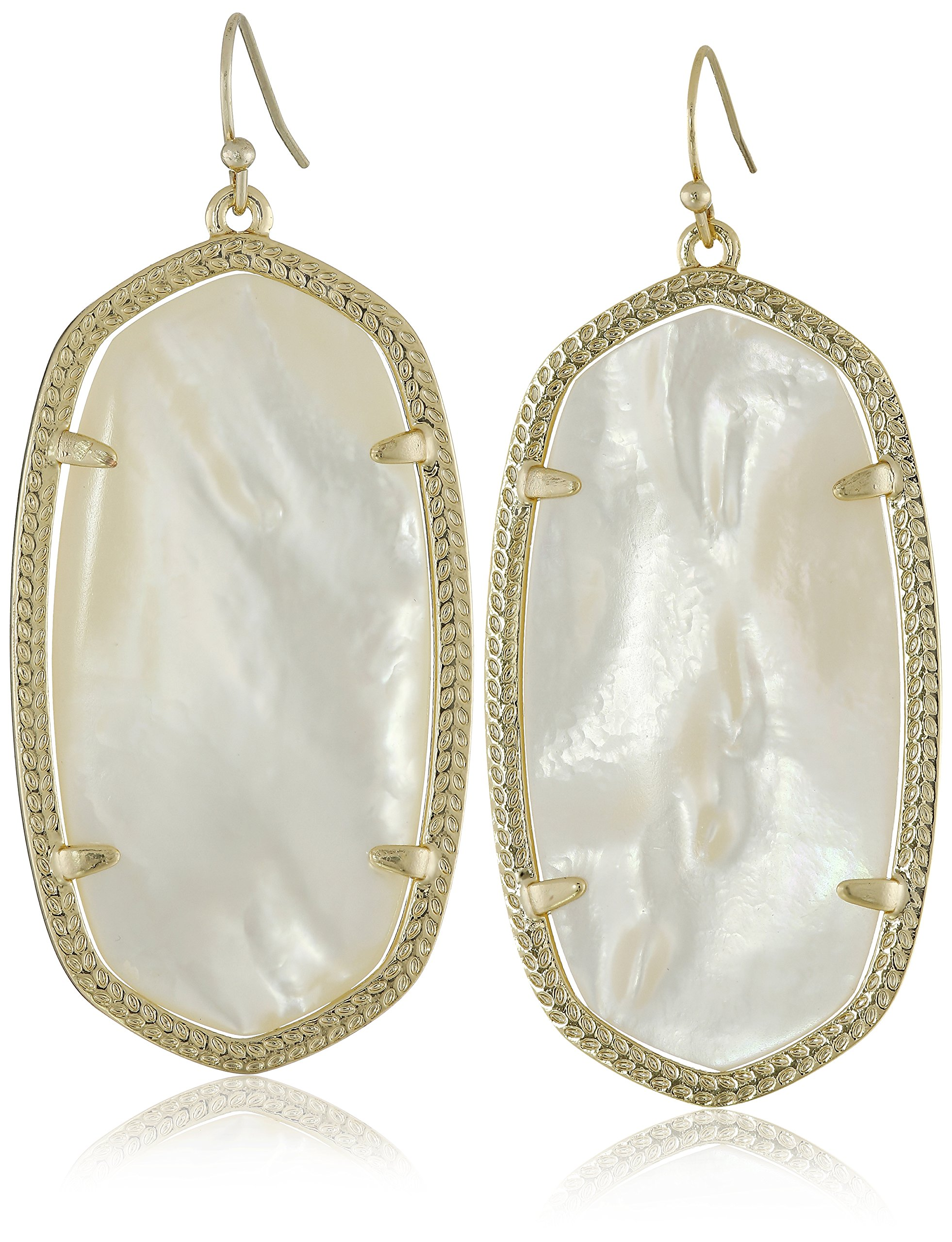 Kendra Scott''Signature'' Danielle Gold plated Ivory Mother-of-Pearl Drop Earrings