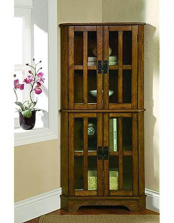 Display Curio Cabinets Amazoncom