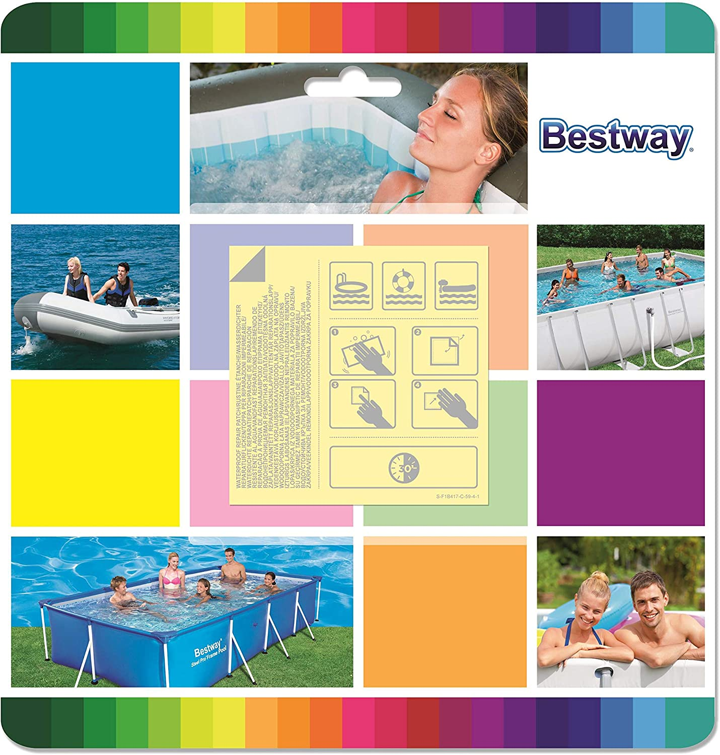 10 Pcs Inflatable Swimming Pool Puncture Repair Patch For Bestway V1G4 Heav D0Q6