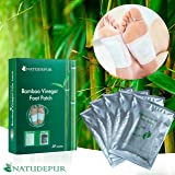 Natudepur 100% Natural Organic Detox Foot Patches Detox Foot Pads Detoxing Foot Pads, Exfoliating Pads, Remove Body Toxins, Detox Cleanse Weight Loss, Relieve Body Stress, Enhance Blood Circulation, Activate Metabolism, Pain Relief, Foot Care, Improve Sleep Quality, Increase Energy Levels