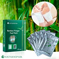 NATUDEPUR® 100% Natural Organic Detox Foot Patches Detox Foot Pads Detoxing Foot Pads, Exfoliating Pads - Remove Body Toxins, Detox Cleanse Weight Loss, Relieve Body Stress, Enhance Blood Circulation, Activate Metabolism, Pain Relief, Foot Care, Improve Sleep Quality, Increase Energy Levels