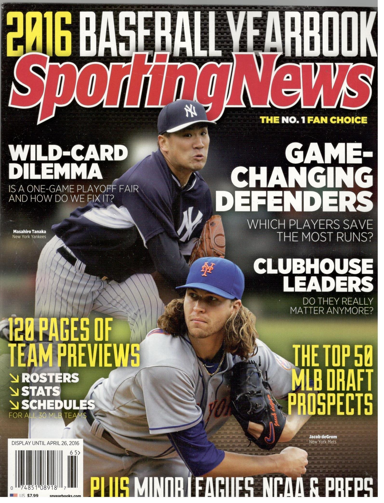 Sporting News 2016 Baseball Yearbook (Yankees/Mets Cover) ebook