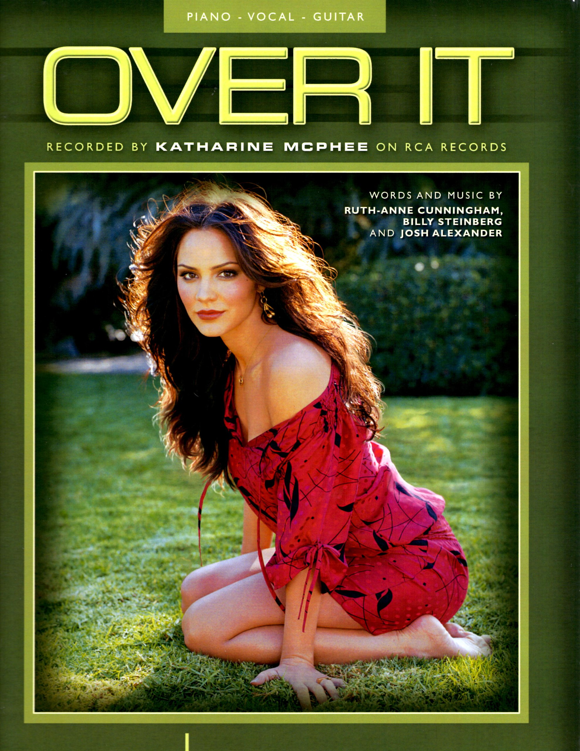 Katharine Mcphee Over It Sheet Music Ruth Anne Cunningham Billy Steinberg And Josh Alexander Amazon Com Books