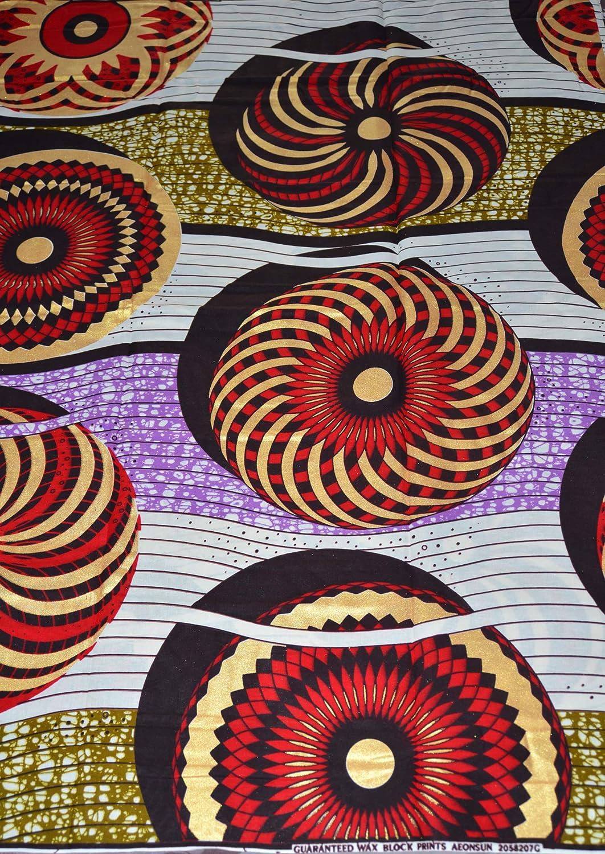 coupe par 50 centim/ètres Tissu Wax Pagne Africain 260 Motif Africain 100/% Coton