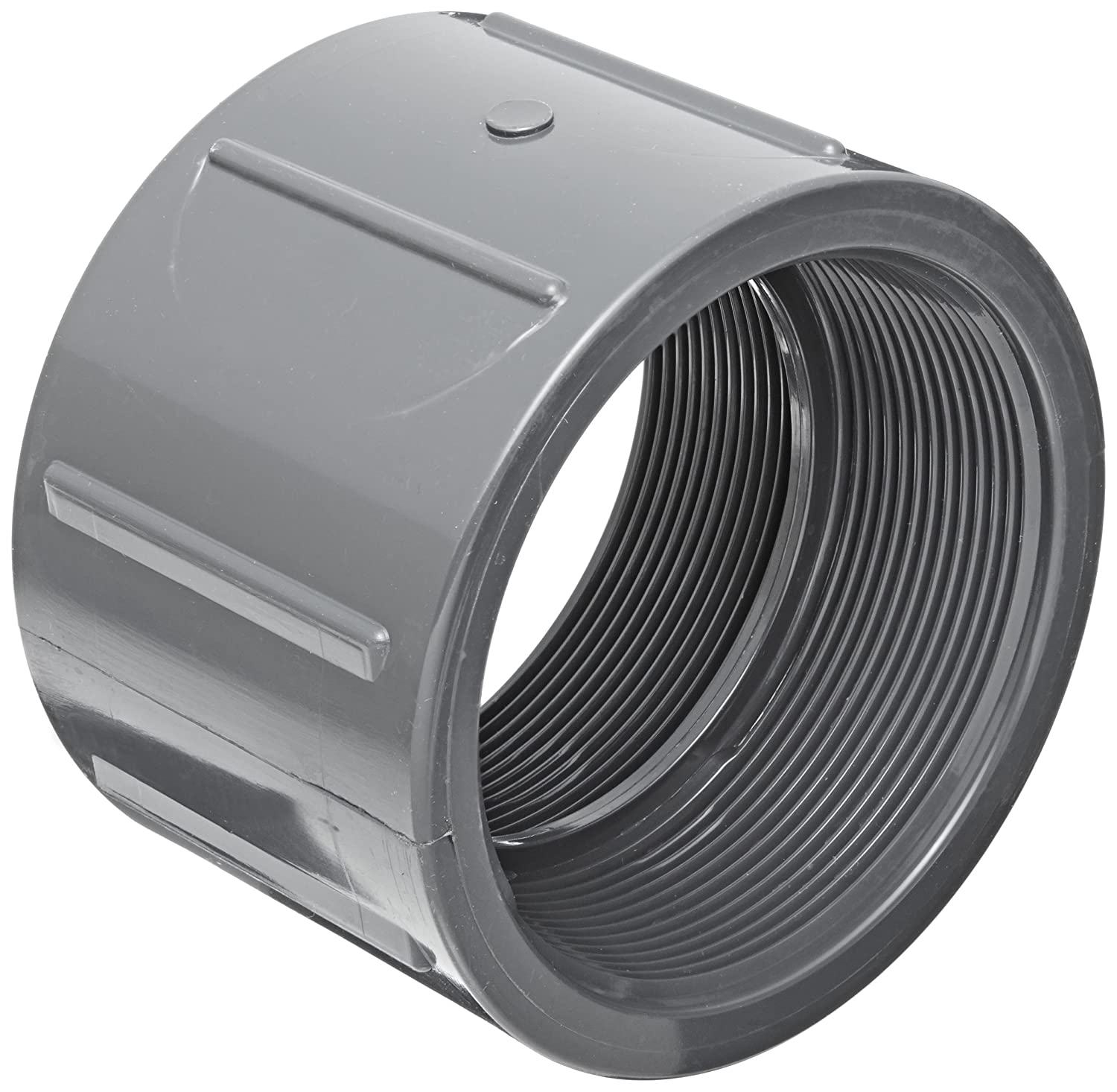 Spears 830 Series PVC Pipe Fitting 2 NPT Female 2 NPT Female Spears Manufacturing 830-020 Coupling Schedule 80